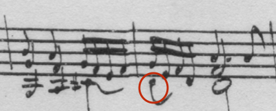 Example 1a: Bach's original