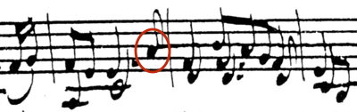 Example 4a: Bach's original