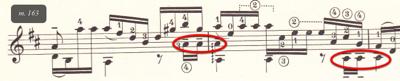 Example 5d: Segovia's score